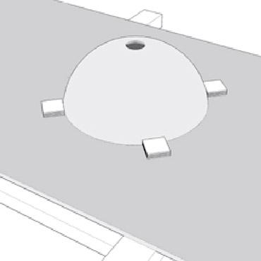 Cales de maintien pour faciliter le collage de la cuve