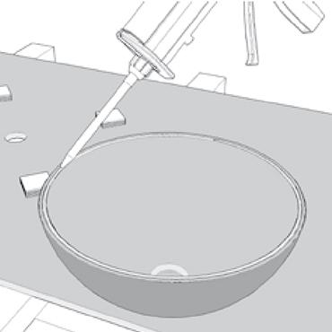 Coller une cuve en résine de synthèse : Application de la colle