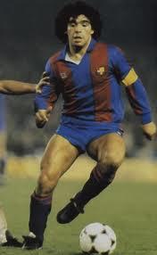 Maradona in  tricoul Barcelonei