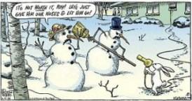 Banda desenata cu oameni de zapada