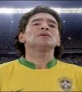 Maradona in tricoul Braziliei