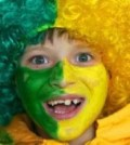 Face Painting Brazil Football Fan in Word Cup 2010