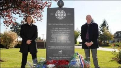 Monumentul dedicat Batalionului Fotbalistilor
