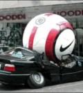 Soccer Ball on Car