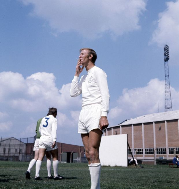 Leeds-United-footballer-Jack-Charlton-smoking-a-cigarette-during-a-training-session-August-1970-4712667