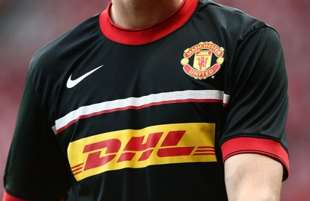Manchester United Model New Training Kit Sponsored By DHL