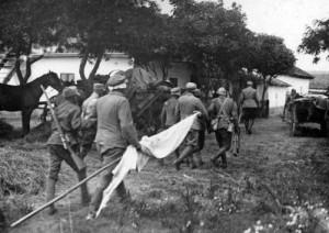 Solie ungurească de predare în faţa trupelor române