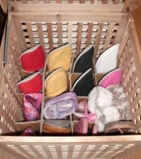 Porta pantofole pneumatico e ordinato