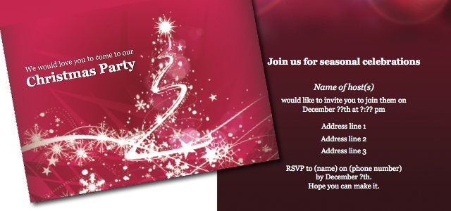 Invitation Christmas Party IStudio Publisher Page