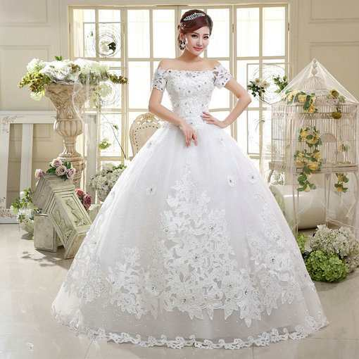 Ball Gown Wedding Gowns Off The Shoulder - Cheap Prom Dress,Evening ...