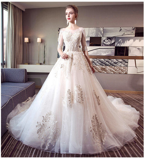 Off Shoulder Ball Gown Long Sleeves Wedding Dresses - Cheap Prom ...