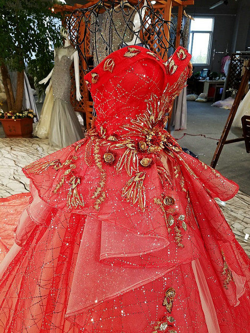 Haute couture ball gown embroidery red wedding dress online haute couture dressmaking 0479 05 junglespirit Choice Image