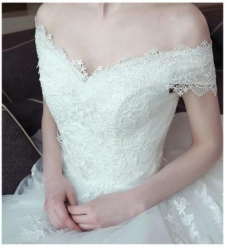 Ball Gown Wedding Dress Princess Floor Length Train Wedding Gowns ...