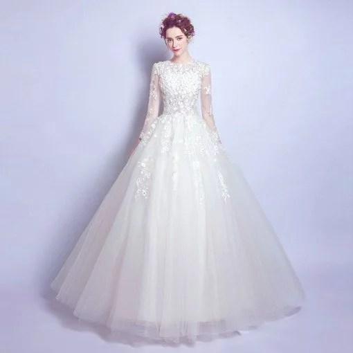 Ball gown wedding dress long sleeve 2018 wholesale long sleeve wedding dress 0554 03 junglespirit Images