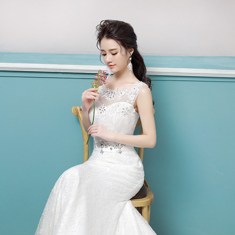 Lace Wedding Dress Mermaid Off Shoulder Dress For Girls