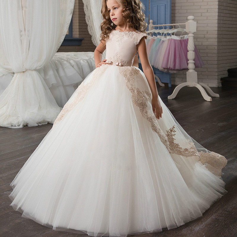 Gowns For Girls Ball Gown Lace Flower Girl Dress Sale