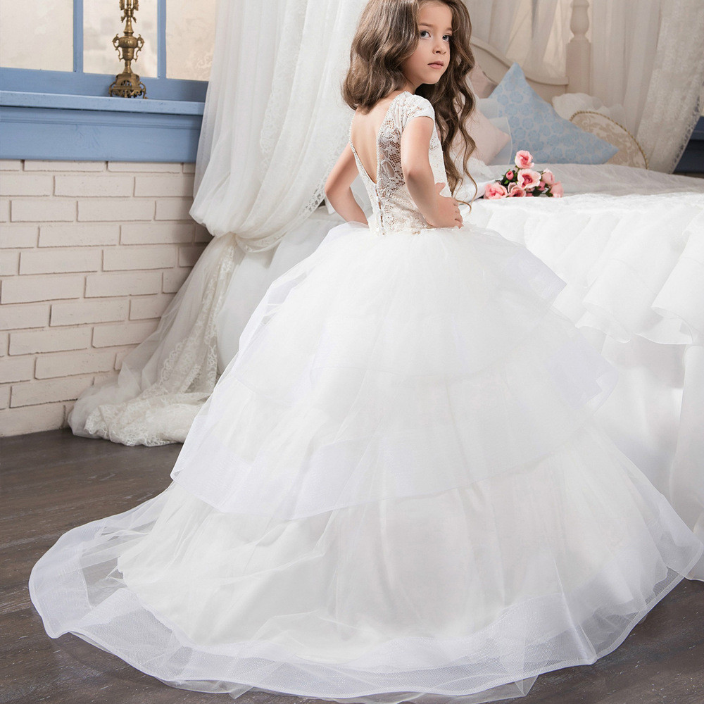 Wedding Flower Girl White Ball Gown Gowns For Girls