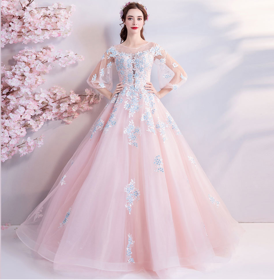 Fuchsia Gown: Quinceanera Dresses Pink Ball Gown Sweetheart Prom Dress