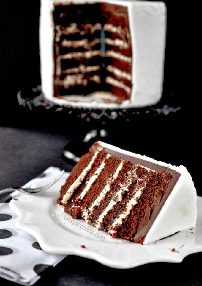 Stout and Peanut Butter Chocolate Layer Cake