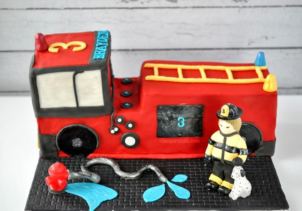 Fabulous Fire Truck Birthday Cake I Sugar Coat It Birthday Cards Printable Opercafe Filternl