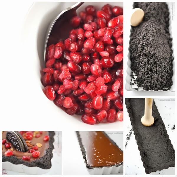 Pomegranate Pecan Tofu Chocolate Mousse Tart {No Bake} - I Sugar Coat ...