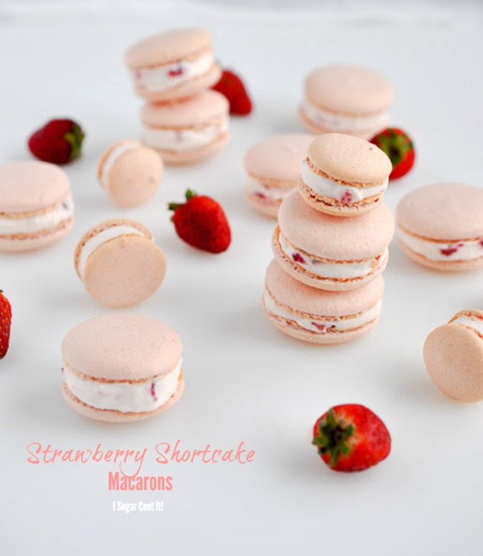 Strawberry Shortcake Macarons I Sugar Coat It