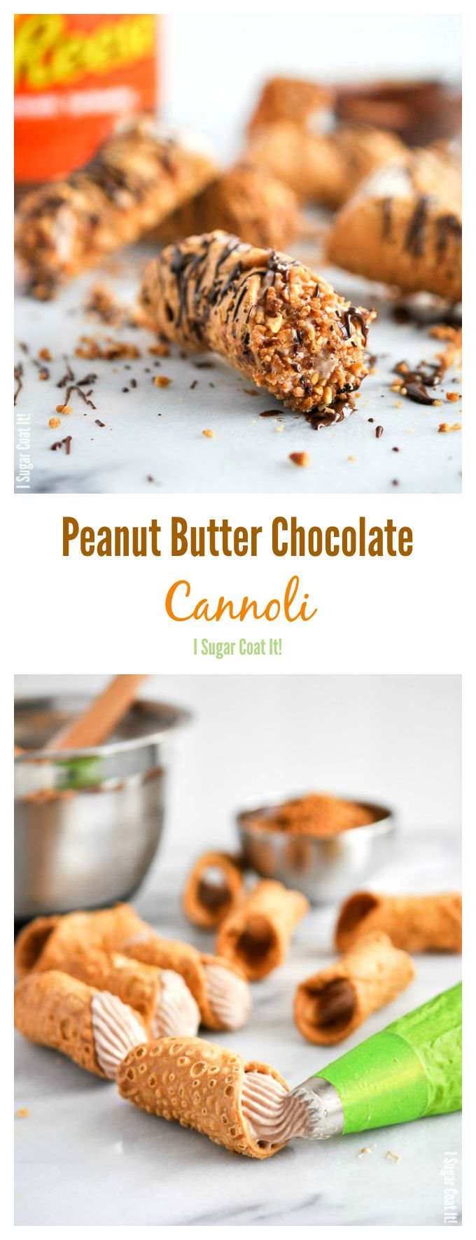 Peanut Butter Chocolate Whipped Coconut Cannoli {#DoYouSpoon} - I ...