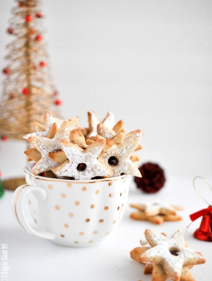 Hazelnut Linzer Cookies with Date Caramel