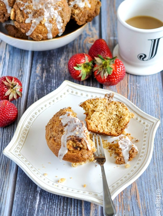 Have your cake and eat it too, with these Coffee Cake Muffins complete with cinnamon crumble topping