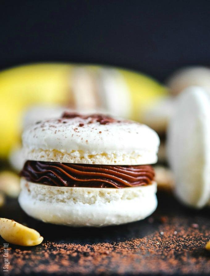 Peanut Butter Banana Macarons - I Sugar Coat It!