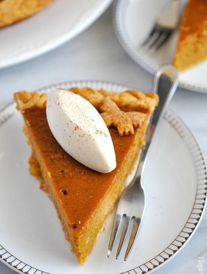 Butterflies and Braids Pumpkin Pie.