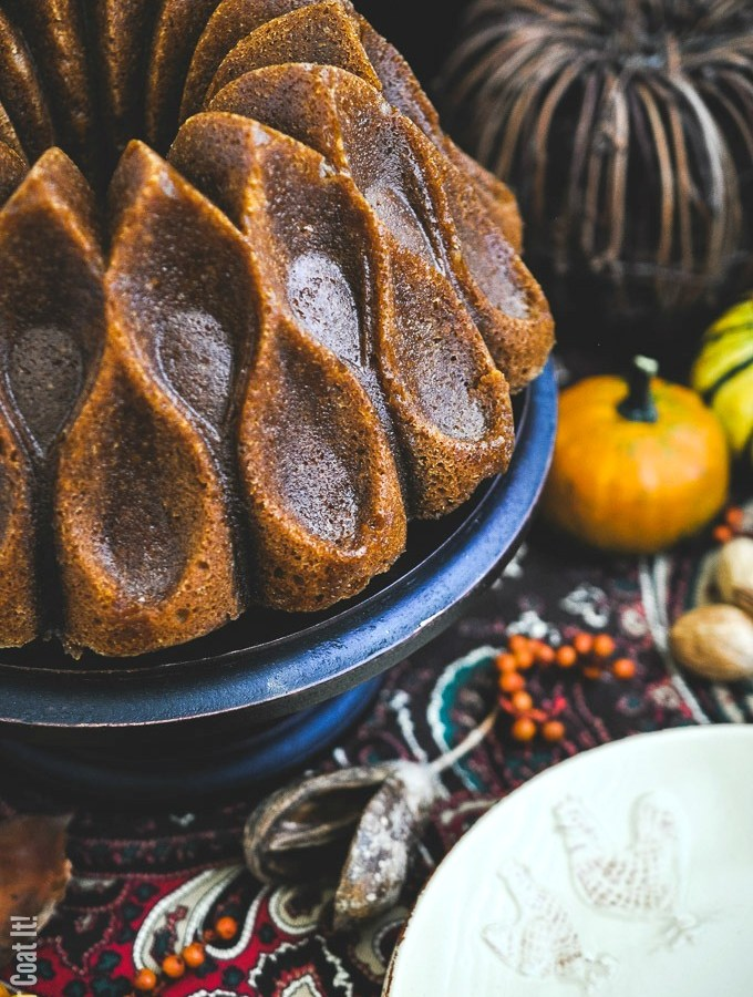 Browned Butter Pumpkin Caramel Bundt Cake