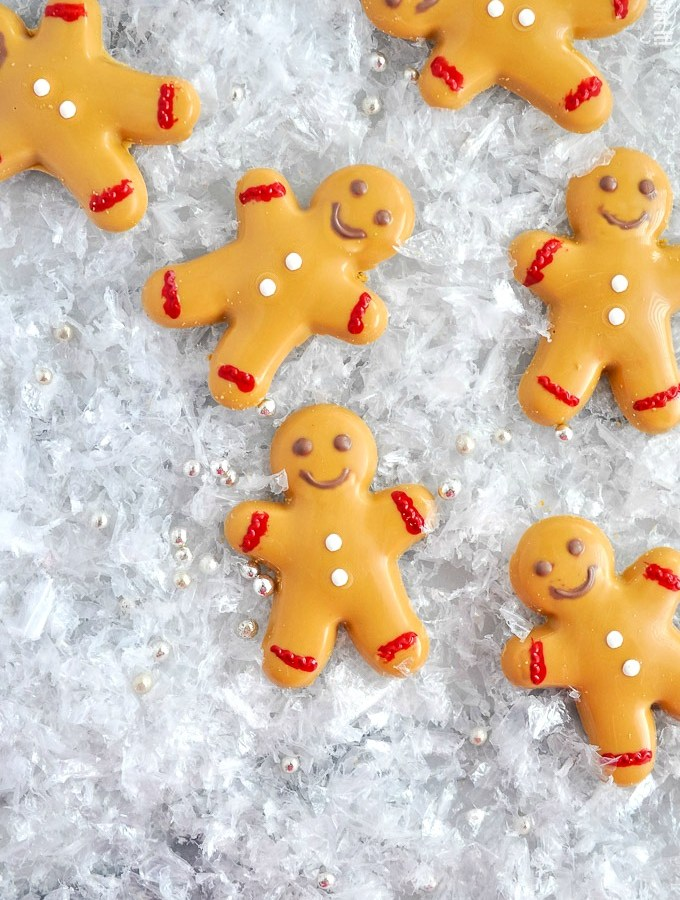Caramelized White Chocolate Gingerbread Men