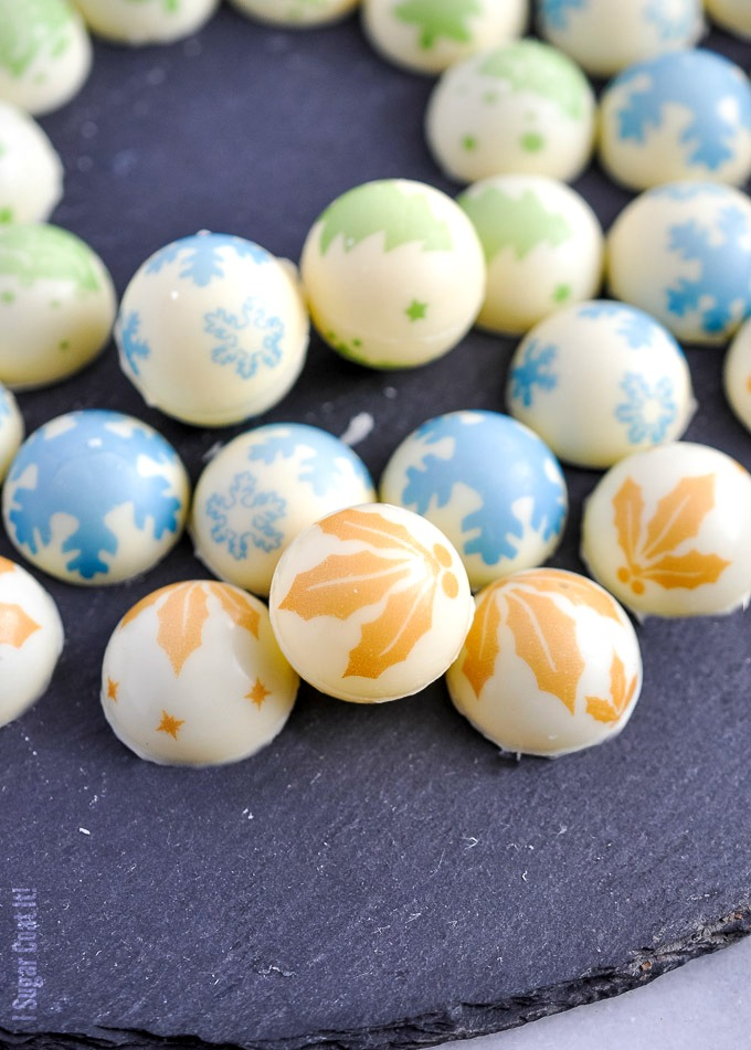 White Chocolate Holiday Truffles - I Sugar Coat It!