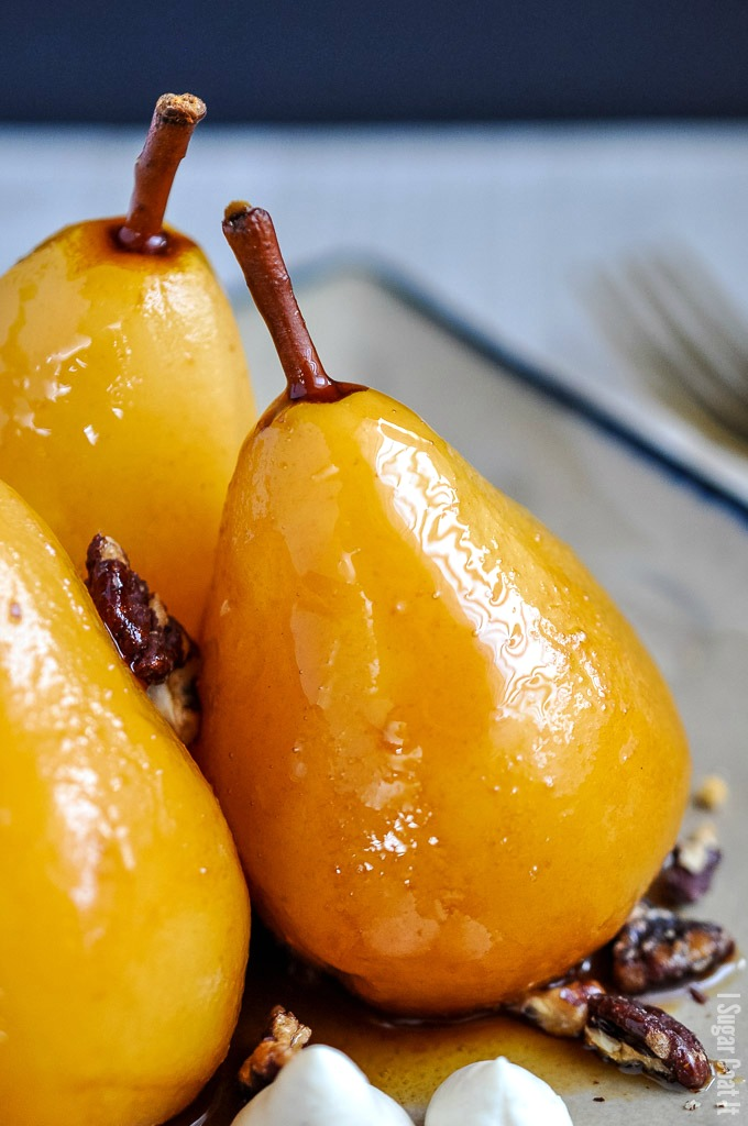 Sous Vide Marsala Poached Pears + Video - I Sugar Coat It