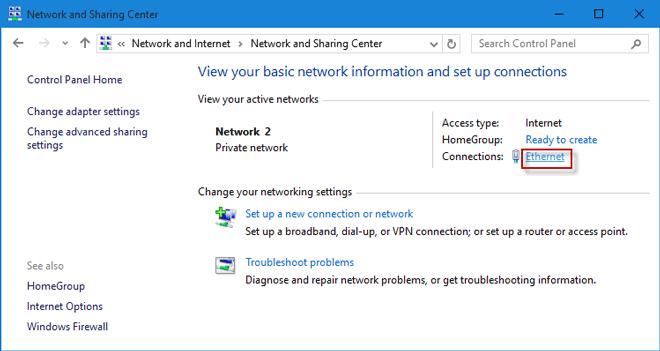 network settings windows 10 ip address
