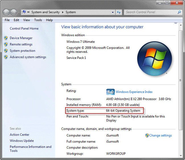 By The Way There Is No 64 Bit Version Of Windows 7 Starter Edition