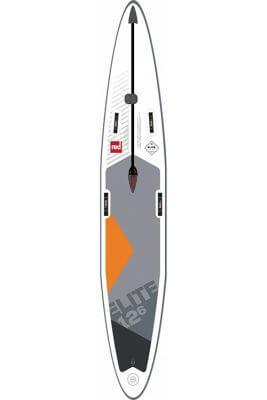 "red paddle 12'6"" x 28""elite msl inflatable supboard"