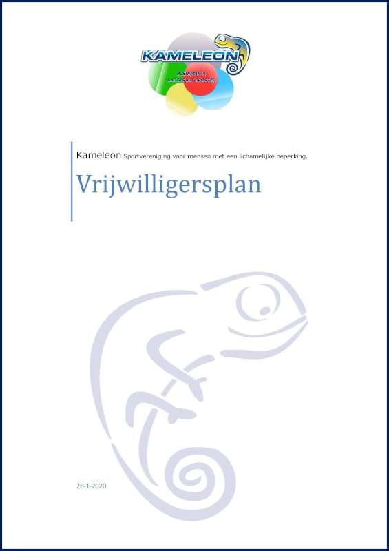ISV Kameleon vrijwilligersplan 2020