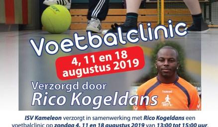 ISV Kameleon voetbalclinic Rico Kogeldans