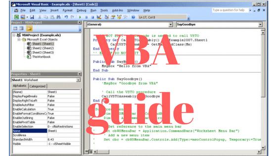 Arbejd i Excelfiler med en form åben i VBA
