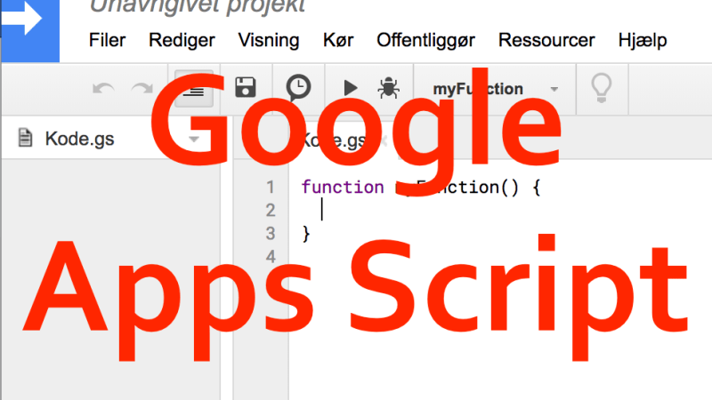 Dialogbokse i Google Apps Script