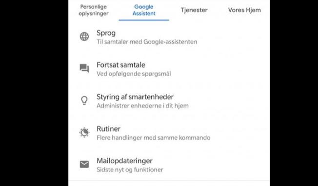 Rutiner er på vej til Dansk Google Home