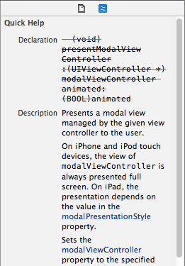 Xcode - Missing content in Quick Help Inspector found!