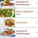 Die Pasta-Rezepte-App des GU Verlags präsentiert sich aufgeräumt und mit schicken Bildern