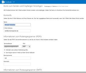 Eigene E-Mail-Konten auf Outlook.com umleiten