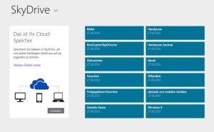 Windows 8.1 - die neue SkyDrive-App
