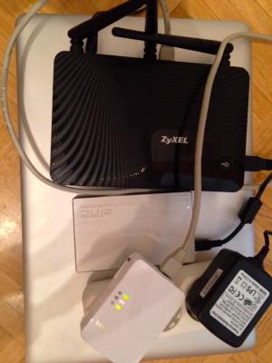 Der eine Teile meines Stromnetz-Setups: Media Router und Powerline-Adapter von ZyXEL