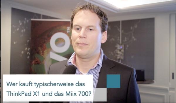 Mirco Krebs von Lenovo (Copyright Michael Hülskötter)