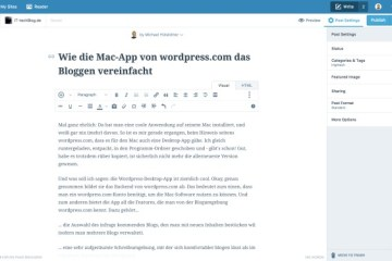 Wordpress-App in Aktion